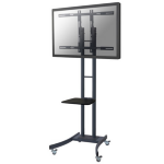 "Newstar PLASMA-M2000E 85"" Portable flat panel floor stand Black flat panel floorstand"