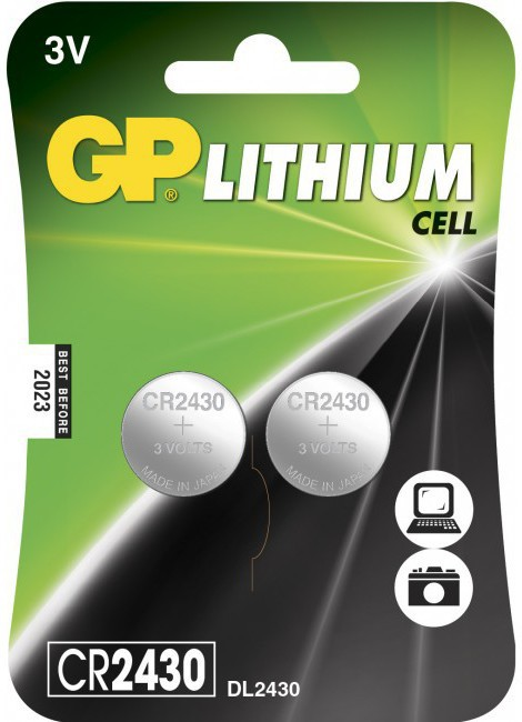 GP Batteries GP LITHIUM BUTTON CELL CR2430