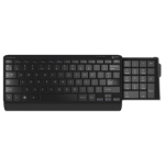 POSTURITE Compact Number Slide Keyboard with retractable number pad. Wired; USB.