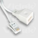 Videk UK Plug to Socket Extension 10m telephony cable