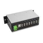 StarTech.com HB20A7AME USB 2.0 Type-B 480Mbit/s Black interface hub