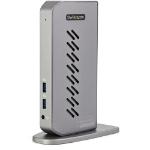 StarTech.com USB-C USB-A Dock - Hybrid Universal USB 3.0 Docking Station for USB-C or USB-A Laptop - Dual Monitor 4K 60Hz HDMI/DisplayPort - 6x USB-A, GbE - USB 3.1/3.2 Gen 1 - Windows/Mac