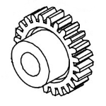 Datamax O'Neil DPR17-2860-01 Label printer Drive gear