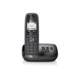Gigaset AS405A Analog/DECT telephone Black Caller ID