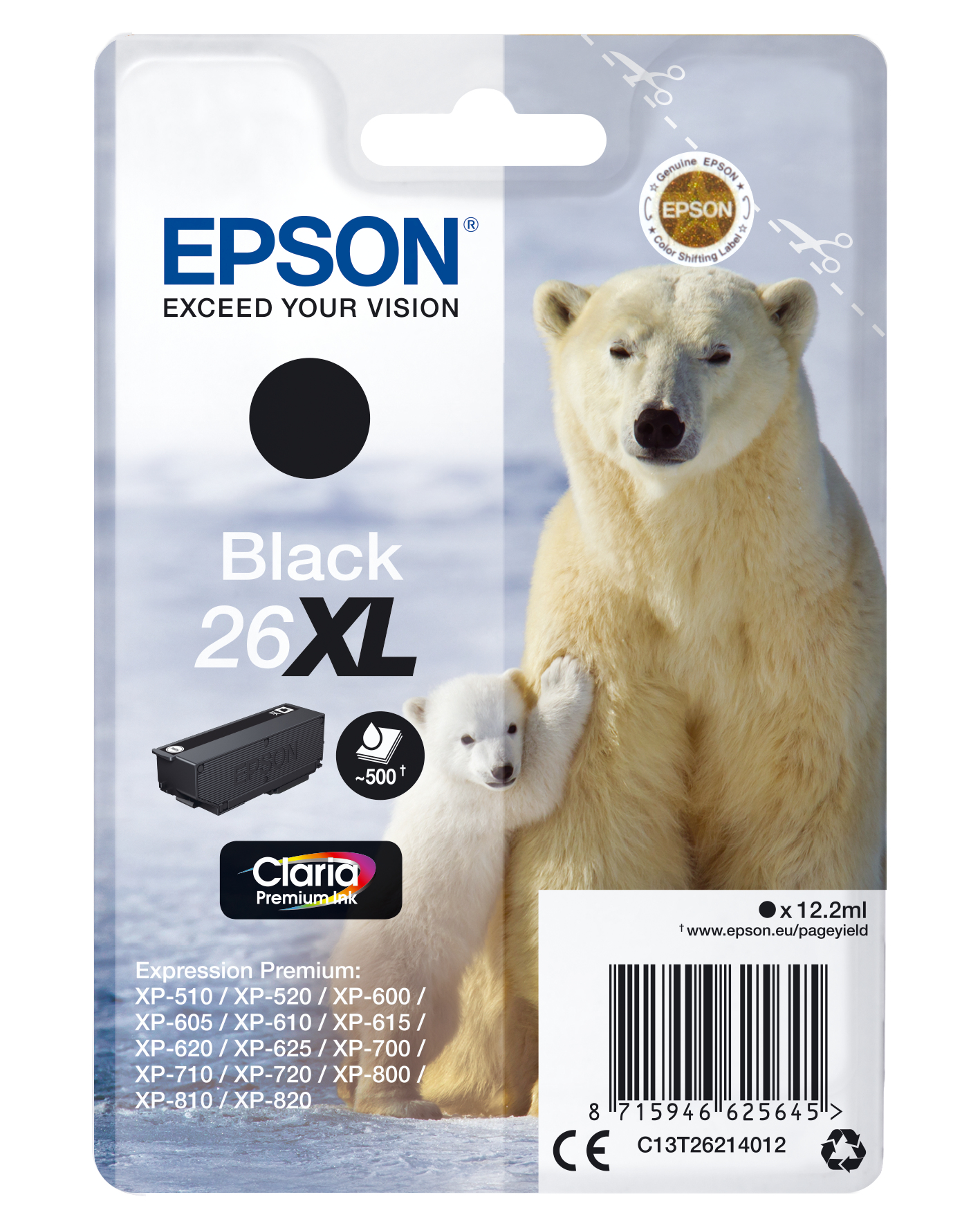 Epson Cartucho 26XL negro