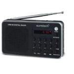 Sunstech Portable digital AM/FM silver radio Portátil Analógica Negro, Plata