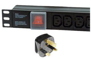 Dynamode PDU-6WS-H-IEC-UK power distribution unit (PDU) 1U Black 6 AC outlet(s)