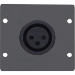 Kramer Electronics WA-1XLF(B) placa de pared y cubierta de interruptor Negro
