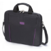 Dicota 13.3-Inch Top Loading Lockable Cushioned Notebook Briefcase- Black/Purple - (D30996)
