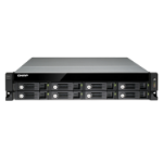 QNAP UX-800U-RP disk array Black