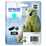 Epson C13T26324012 (26XL) Ink cartridge cyan, 700 pages, 10ml