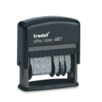 Trodat Printy 4817 Dial-A-Phrase Self-inking Stamp (Black)