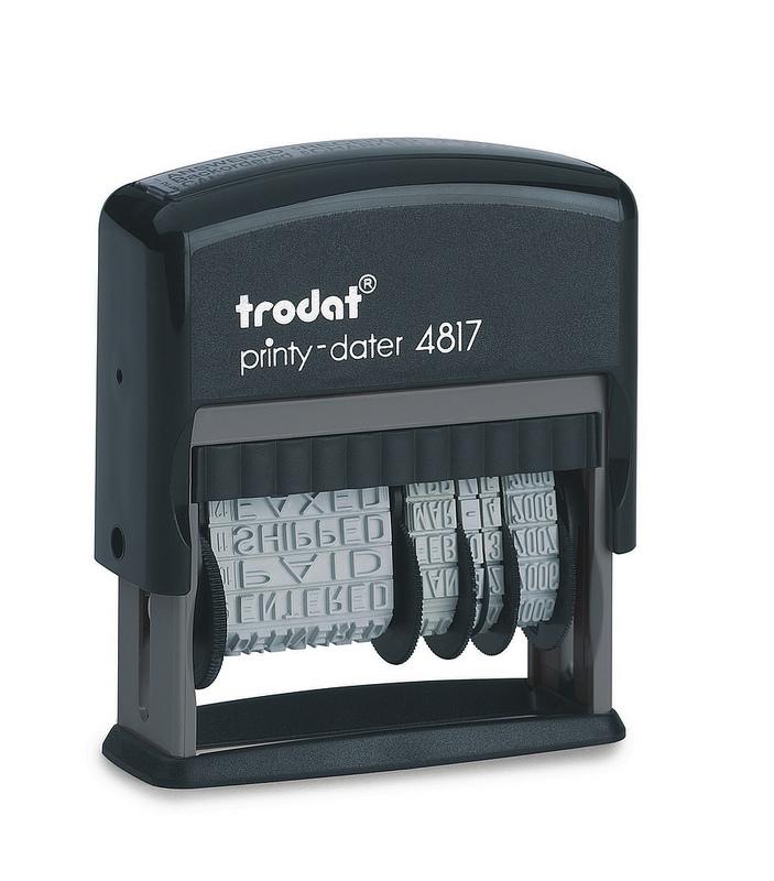 Trodat Printy 4817 Dial-A-Phrase Self-inking Stamp (Black)