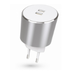 Kit USBMCALUEU3SI mobile device charger Silver Indoor