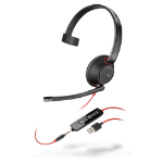 Plantronics Blackwire 5210 Monaural Head-band Black,Red