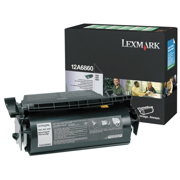 Lexmark 12A6860 Toner black, 10K pages