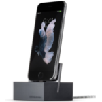 Native Union DOCK+-IP-CABLE-GRY Indoor Grey,Silver mobile device charger