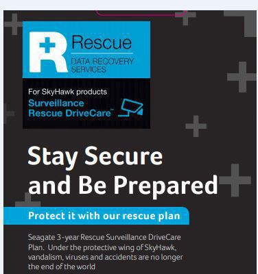 Seagate Rescue Drivecare Plan - 3 yr **New Retail** Part nr 1ZZYAD-570 - Approx 1-3 working day lead