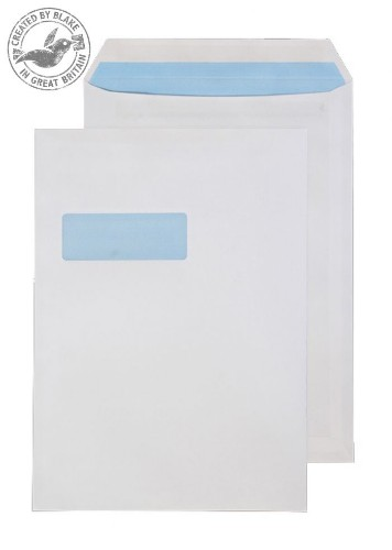 Blake Purely Everyday White Window Self Seal Pocket C4 324X229mm 90gsm (Pack 25)