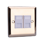 Videk 4296BR Brass switch plate/outlet cover