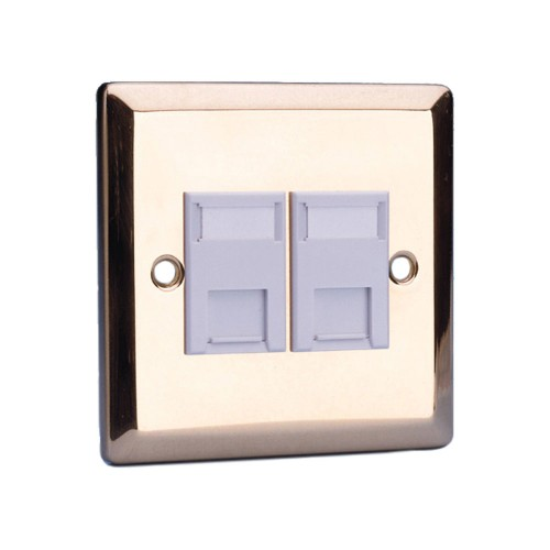 Videk 4296BR wall plate/switch cover Brass