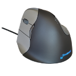 Evoluent VM4 Mouse Left Hand Black. Vertical hand grip mouse that supports your hand in a relaxed handshake p