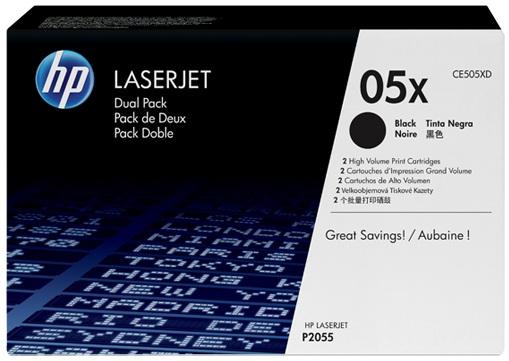 HP 2 x CE505XD Original Negro 2 pieza(s)
