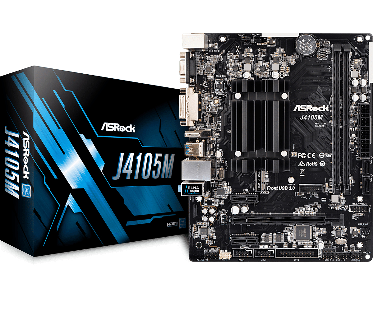 Asrock J4105M motherboard Micro ATX
