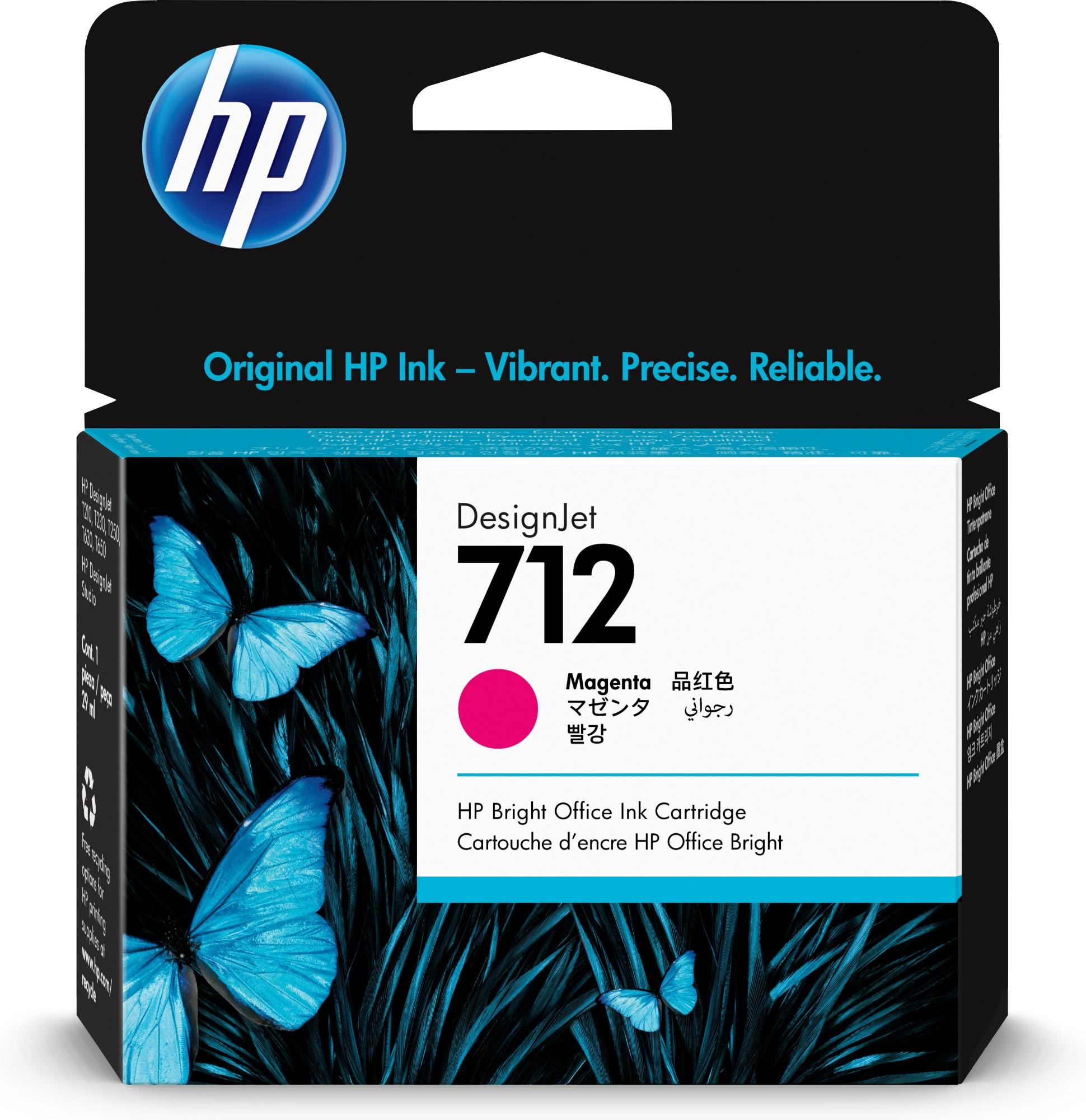 HP 712 Original Magenta 1 pieza(s) Rendimiento estándar
