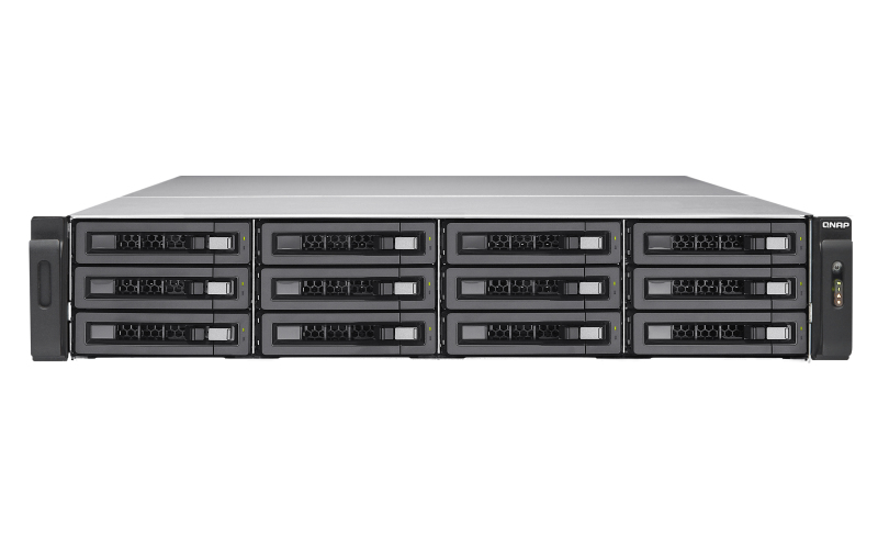 QNAP TES-1885U NAS Rack (2U) Ethernet LAN Aluminium, Black