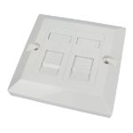 Cables Direct Single Cat6 Faceplate 2 Port outlet box White