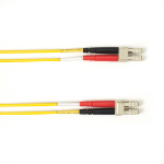 "Black Box FOCMPM4-005M-LCLC-YL fiber optic cable 196.9"" (5 m) OFNP OM4 2x LC Yellow"