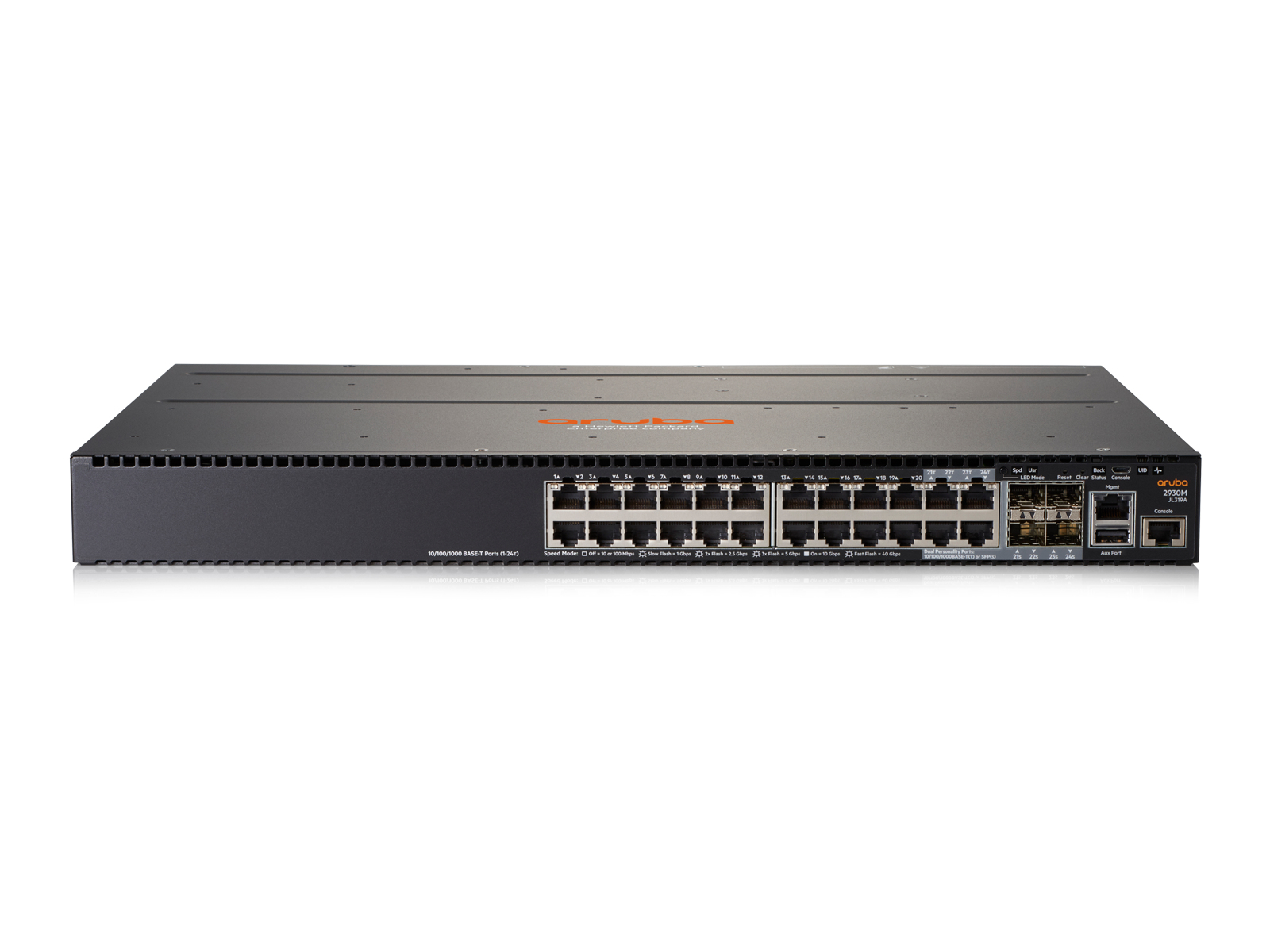 Hewlett Packard Enterprise Aruba 2930M 24G 1-slot Managed L3 Gigabit Ethernet (10/100/1000) 1U Grey