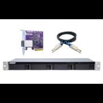 "QNAP TL-R400S behuizing voor opslagstations 2.5/3.5"" HDD-/SSD-behuizing Zwart, Grijs"