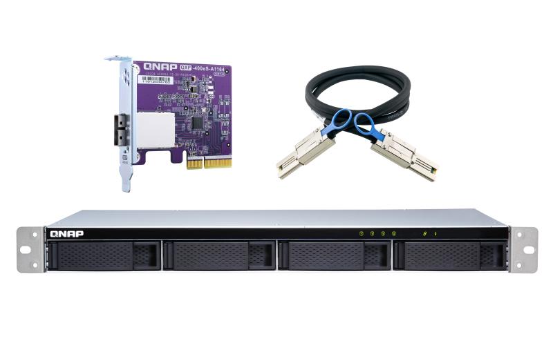"QNAP TL-R400S caja para disco duro externo 2.5/3.5"" Carcasa de disco duro/SSD Negro, Gris"