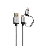 Verbatim MicroUSB + Lightning Cable 120cm