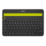 Logitech K480 Bluetooth QWERTY US International Black,Yellow mobile device keyboard