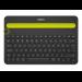 Logitech K480 QWERTY Internacional de EE.UU. Negro, Amarillo Bluetooth