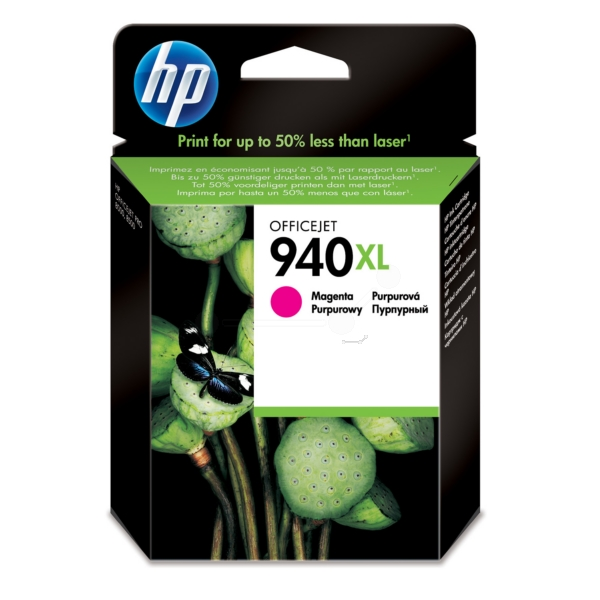 HP C4908AE (940XL) Ink cartridge magenta, 1.4K pages, 19ml