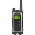 Motorola T80 Walkie Talkie 8channels 0.0125MHz Black, Silver two-way radio
