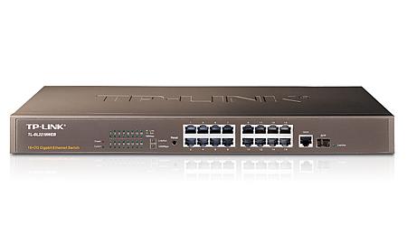 TP-LINK 16-Port 10/100Mbps + 2-Port Gigabit Web Smart Switch