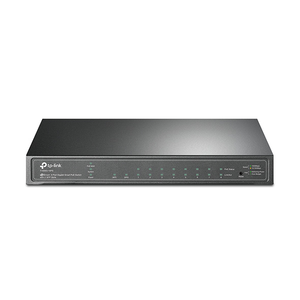 TP-LINK T1500G-10PS Managed L2/L4 Gigabit Ethernet (10/100/1000) Zwart Power over Ethernet (PoE)