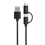 PNY C-UA-UUTC-K20-03 1m USB A USB C Male Male Black USB cable
