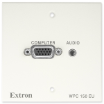 Extron WPC 150 EU socket-outlet VGA + 3.5 mm White