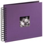 "Hama ""Fine Art"" Spiral Album, purple, 26x24/50 Purple photo album"