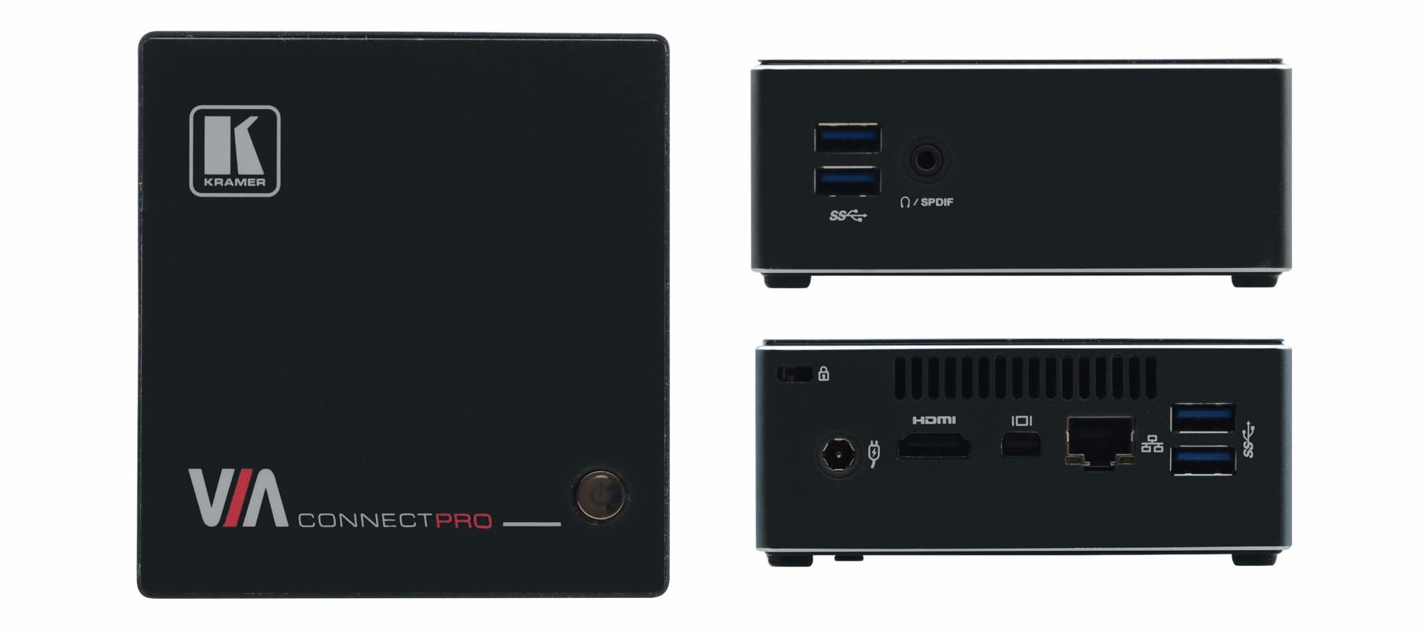 Kramer Electronics VIA Connect PRO Transmisor y receptor de señales AV Negro