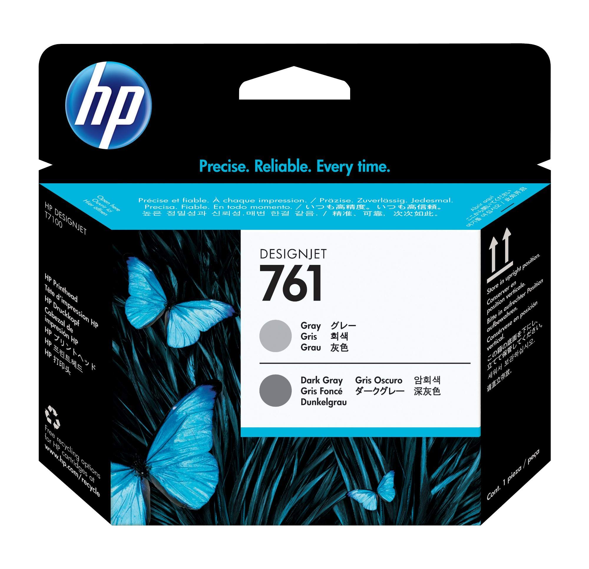 HP Cabezal de impresión DesignJet 761 gris/gris oscuro