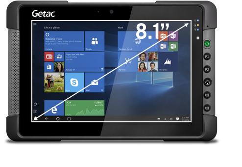 """Getac T800 G2 20,6 cm (8.1"""") Intel Atom® 4 GB 128 GB Wi-Fi 5 (802.11ac) 4G LTE Negro Windows 10"""