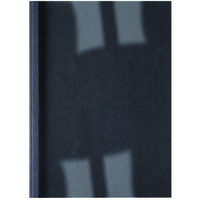 GBC LEATHERGRAIN THERMAL BINDING COVERS 4MM BLACK (100)
