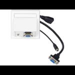 VivoLink WI221192 socket-outlet HDMI + VGA + 3.5mm White